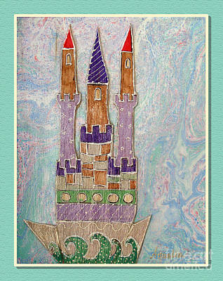 Youthful Mixed Media - The Castle Travels by Aqualia