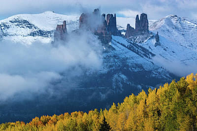 Photograph - The Castles In Fog by John De Bord
