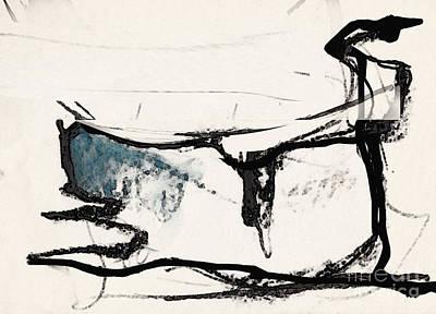 The Cat Art Print by Airton Sobreira