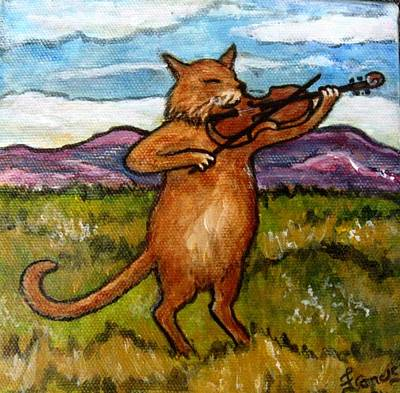 The Cat And The Fiddle Original by Frances Gillotti