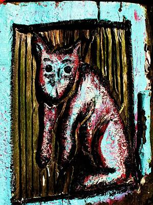 Cat Wood Carving Photograph - The Cat by John King
