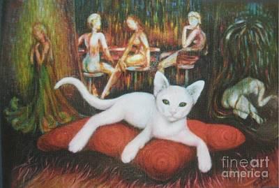 Destiny Painting - The Cat by Sukalya Chearanantana