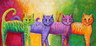 The Cat Walk Art Print
