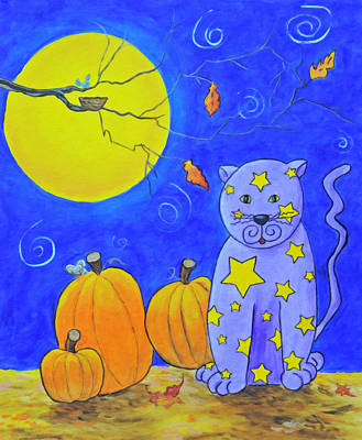 Painting - The Cat Who Stole The Stars From The Sky by Kenny Francis