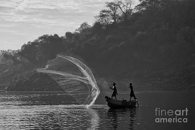 Photograph - The Catch For Survival by Kiran Joshi
