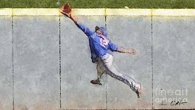 Centerfield Photograph - The Catch by Sean Conklin