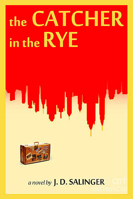 Book Covers Drawing - The Catcher In The Rye Book Cover Movie Poster Art 1 by Nishanth Gopinathan