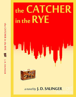 Book Covers Drawing - The Catcher In The Rye Book Cover Movie Poster Art 2 by Nishanth Gopinathan