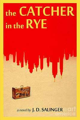 Book Covers Drawing - The Catcher In The Rye Book Cover Movie Poster Art 3 by Nishanth Gopinathan