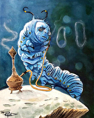 Alice In Wonderland Painting - The Caterpillar by Tom Carlton