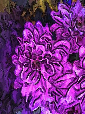 Digital Art - The Cathartic Scream Of The Purple Flower by Jackie VanO