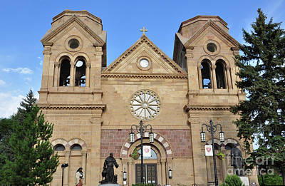 Photograph - The Cathedral Basilica Of St. Francis Of Assisi, Santa Fe, New M by Debby Pueschel