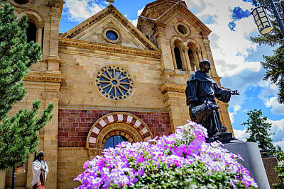 Assisi Church Photograph - The Cathedral Basilica Of St Francis Of Assisi - Santa Fe - New Mexico by Jon Berghoff