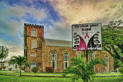 Photograph - The Cathedral Church Of St John The Baptist In Belize by Olga Hamilton