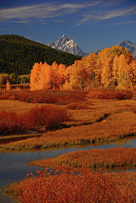 The Cathedral Group From North Of Oxbow Bend Art Print