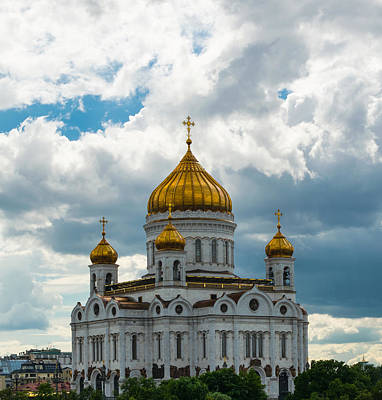 Moscow Photograph - the Cathedral of Christ the Savior in Moscow by Aleksei lomanov Barsuk