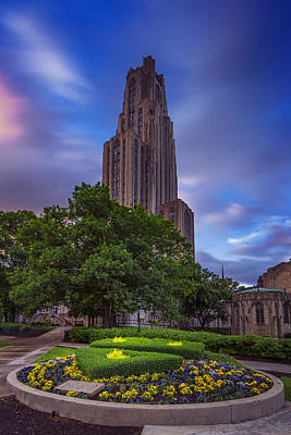 The Cathedral Of Learning Art Print by Rick Berk