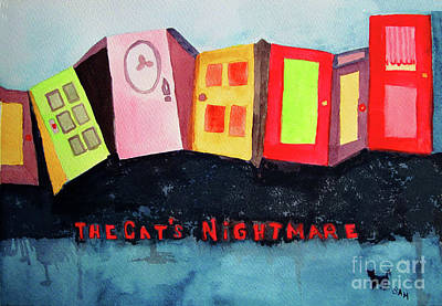 Painting - The Cat's Nightmare by Sandy McIntire