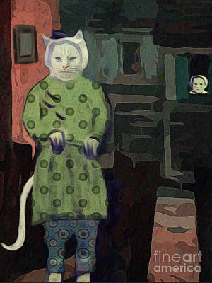 Art Print featuring the digital art The Cat's Pajamas by Alexis Rotella