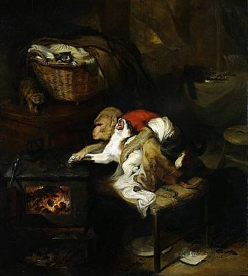Painting - The Cat's Paw by Edwin Henry Landseer