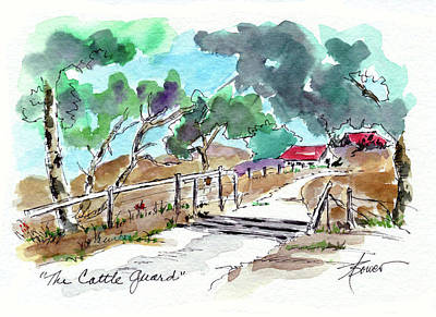 Painting - The Cattle Guard  by Adele Bower