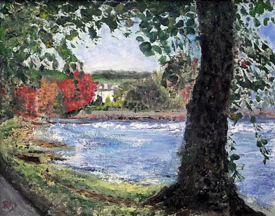 Painting - The Cauld, Riverside House, Peebles by Richard James Digance