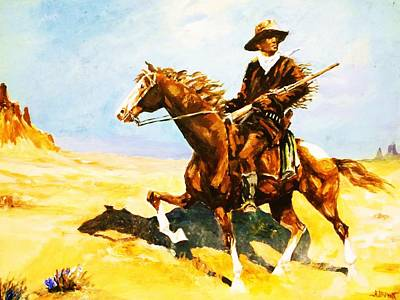 Painting - The Cavalry Scout by Al Brown