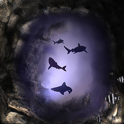 Digital Art - The Cave Down Under by Artful Oasis