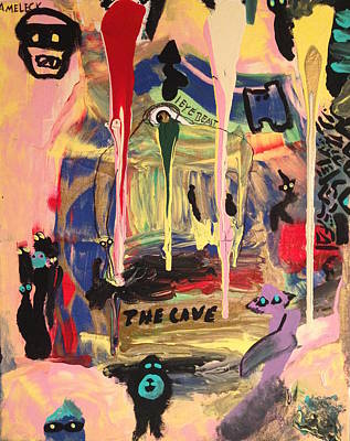 Bank Robber Painting - The Cave  by Finnbarr Ameleck Martin