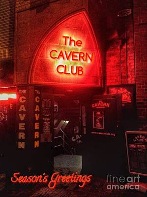 Photograph - The Cavern Club Greeting by Joan-Violet Stretch