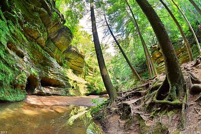 Photograph - The Caves And Trail At Old Man's Cave Hocking Hills Ohio by Lisa Wooten