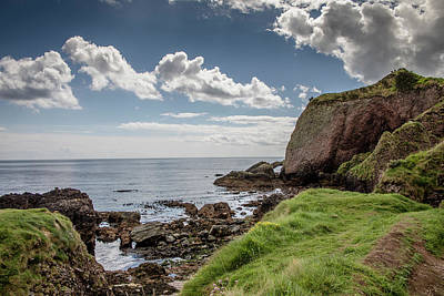 Photograph - The Caves At Cushendun by Teresa Wilson