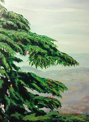 Painting - The Cedar Tree by Ray Khalife