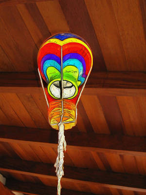 Baloon Painting - The Ceiling Lamp - Mm by Leonardo Digenio