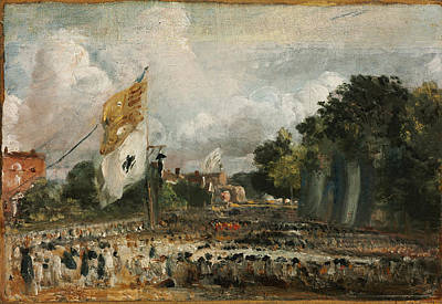 Painting - The Celebration In East Bergholt Of The Peace Of 1814 Concluded In Paris by John Constable