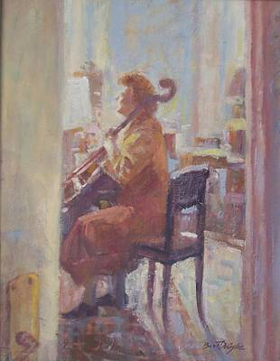 Painting - The Cellist. by Bart DeCeglie