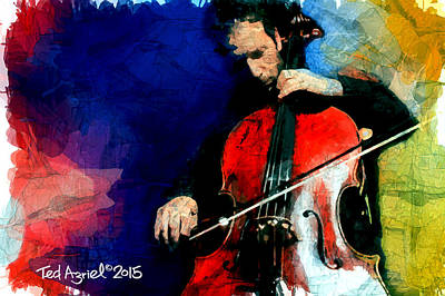 Painting - The Cellist by Ted Azriel