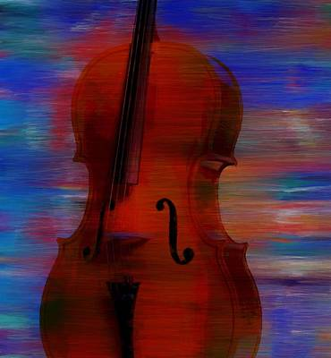 Painting - The Cello by Dan Sproul