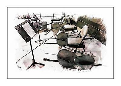 Photograph - The Cello Section by Karen McKenzie McAdoo