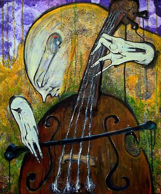 The Celloist Art Print by Mark M  Mellon