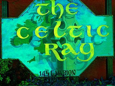 the Celtic Ray Art Print by Charles Peck