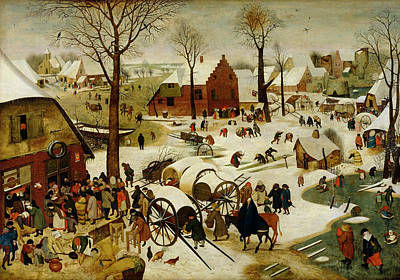 Testament Painting - The Census At Bethlehem by Pieter the Younger Brueghel