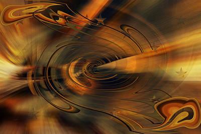 Digital Art - The Center Mark Outbound by rd Erickson