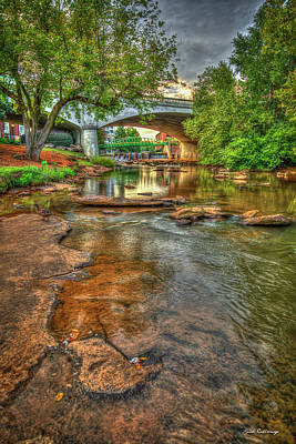 Photograph - The Center Of Town 2 Reedy River Falls Park Greenville South Carolina Art by Reid Callaway