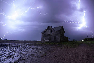Lightning Photograph - The Centerville Horror by Aaron J Groen