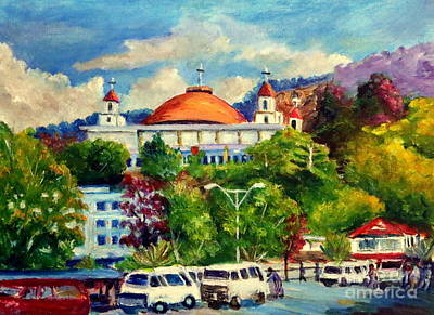 Painting - The Central Taxi Terminal In Jayapura by Jason Sentuf