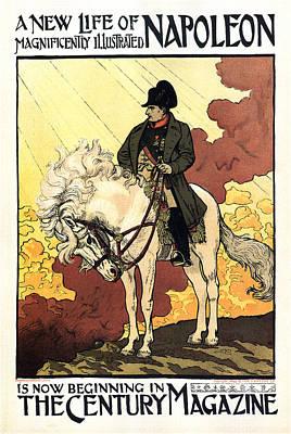 Mixed Media - The Century Magazine - Life Of Napoleon - Magazine Cover - Vintage Art Nouveau Poster by Studio Grafiikka