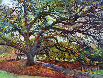Print featuring the painting The Century Oak by Hailey E Herrera