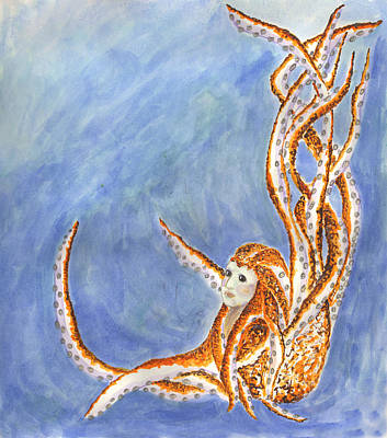 Wall Art - Painting - The Cephalopod Maid by Kat Micari