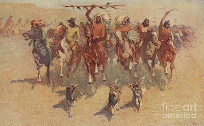 Painting - The Ceremony Of The Scalps by Frederic Remington